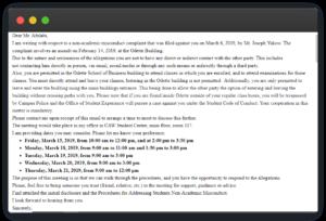Screenshot of Danieli Arbex Email Bans Jordan