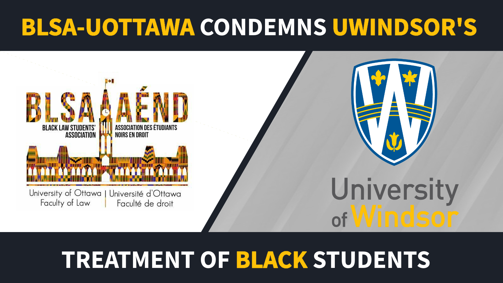 BLSA UOttawa Statment On UWindsor Discrimination Logo