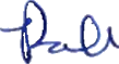Robert Gordon Signature