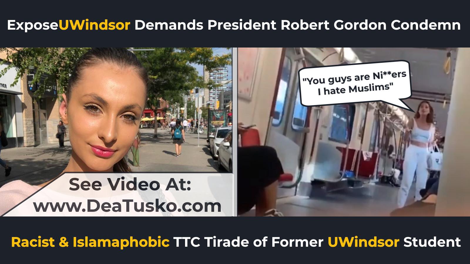 Dea Tusko Racist Calls Muslims N-word